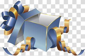 caixa de presente da cerceta, caixa de presente, caixa de presente azul grande PNG clipart