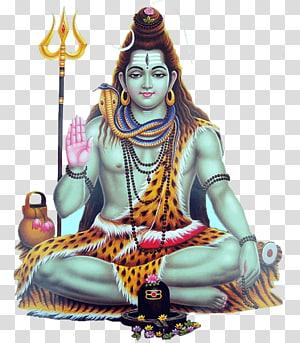 ilustração de shiva deus hindu, shiva ganesha parvati vishnu hinduísmo, shiva PNG clipart