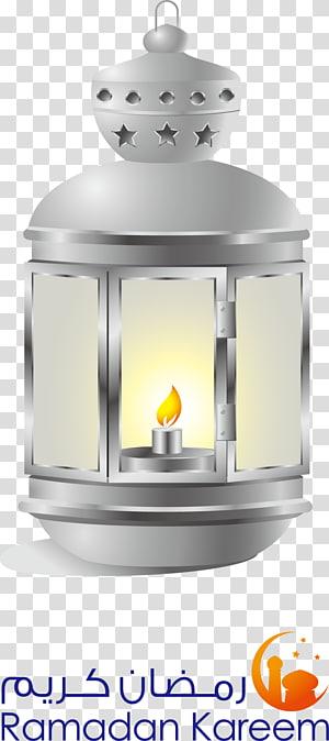 ilustração de lanterna cinza, Ramadan Islam Lantern Fanous, Islam Cary Yindeng PNG clipart