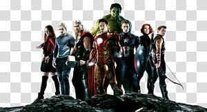 Marvel Avengers personagens ilustração, Viúva Negra Thor Ultron, Vingadores grátis PNG clipart