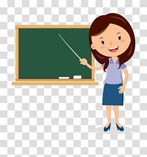 Professor Cartoon Blackboard, desenhos animados do quadro-negro Professores, professor, apontando seu pau a bordo de ilustração PNG clipart