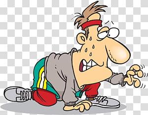 Exercício físico Alongamento Running Cartoon, CANSADO png