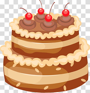 Bolo de aniversário Bolo de casamento, bolo de chocolate com cerejas grandes, ilustração de bolo png