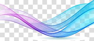 onda de cores roxas e azuis, Blue Line Color Pattern, linhas coloridas png