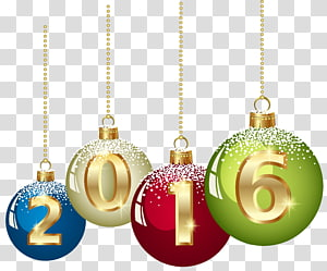 2016 enfeites de Natal, gráficos escaláveis, 2016 bolas de Natal png