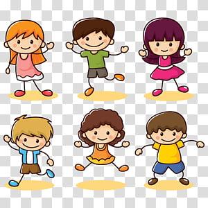 crianças dançando ilustração, criança euclidiana Cartoon, coleção de crianças felizes PNG clipart