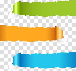 Faixa de papel Web Banner, faixa, verde, laranja e azul arte digital PNG clipart