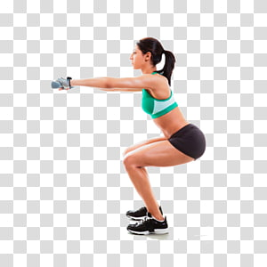 Agachamento Exercício Prancha Perda de peso Coxa, agachamento png