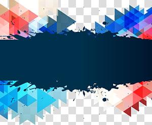 ilustração abstrata multicolorida, arquivo de computador triângulo, caixa de título de quebra-cabeça triângulo png