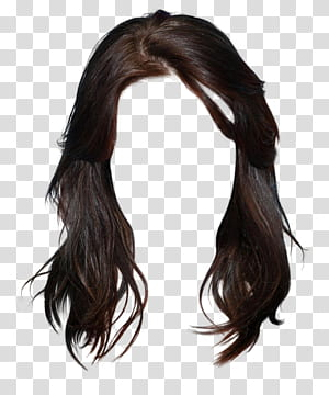 Cabelo comprido Cabelo castanho Cabelo preto Penteado, estilo gráfico morena de cabelos longos estilo ocidental, peruca preta PNG clipart