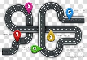 faixa de estrada preta, roteiro de tecnologia, estrada da cidade png