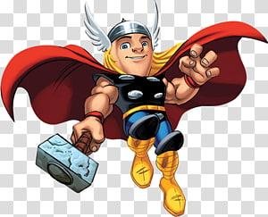 ilustração de thor, thor maravilha capitão do esquadrão de super herói América homem de ferro bruce banner, thor png