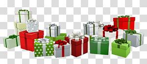 Presente de Natal Presente de Natal Papai Noel, Presentes, lote de caixa de presente PNG clipart