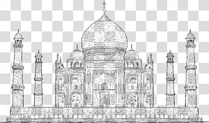 Taj Mahal Desenho ilustração, pintado Taj Mahal, Índia PNG clipart