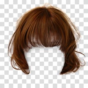 Peruca de cabelo castanho penteado, clipes de cabelo curtos atraentes para puxar os s grátis, peruca loira PNG clipart