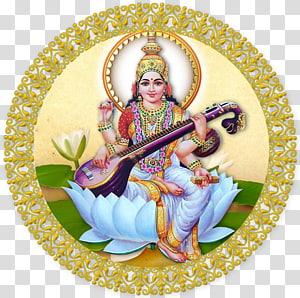 saraswati vandana mantra devi puja durga, deusa PNG clipart