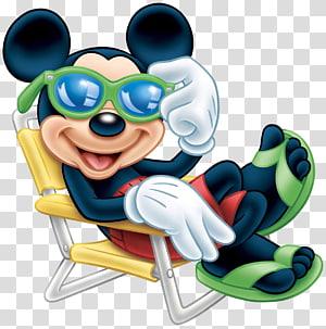 Mickey Mouse Minnie Mouse Pateta Pluto Scrooge McDuck, Mickey Mouse com óculos de sol, Mickey Mouse sentado na cadeira ilustração PNG clipart