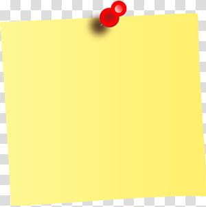 Post-it note Papel Sticky Notes, lembrete, lembrete amarelo e alfinete png