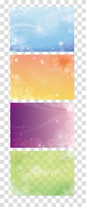 , Fundo do cartão VIP de negócios, colagem de quatro luzes de bokeh de cores sortidas PNG clipart