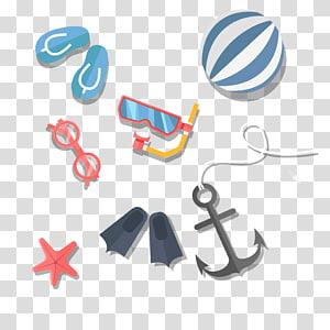 praia-temático, verão praia, material de praia verão PNG clipart