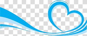 Ícone euclidiano, fita azul elemento fundo, ilustração de coração azul e azul claro png