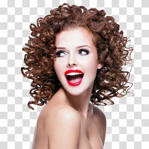 rosto de mulher, permanentes de cabelo penteado & alisadores cabeleireiro salão de beleza, estilo de cabelo PNG clipart