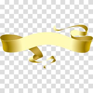 Fita, fitas de ouro elegantes, fita de ouro png