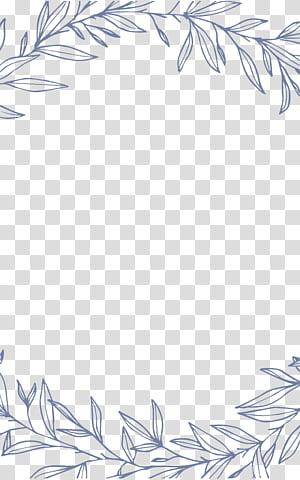 Convite de casamento Destin euclidiano, fronteiras de folha simples e elegante, cinza deixa ilustração png