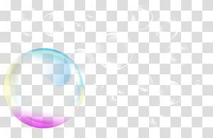 ilustração de bolhas, bolha de sabão, bolha de cor png