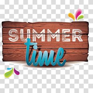 Horário de verão, férias na praia Ilustração de verão, horário de verão png