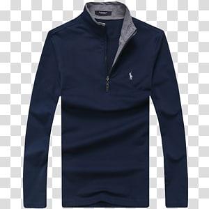 jaqueta azul e cinza Ralph Lauren com zíper, jaqueta com capuz Diesel, suéter, camisa POLO PNG clipart