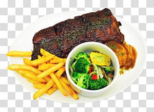carne frita com batata frita, comida, prato de comida PNG clipart