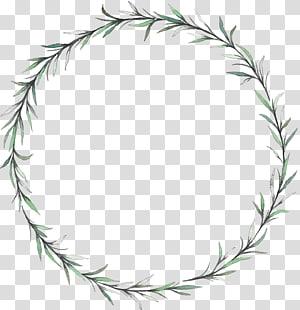 Grinalda flor de folha, grinalda de folha de salgueiro, grinalda de videira verde PNG clipart