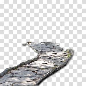 passarela de concreto cinza, pixel, estrada png
