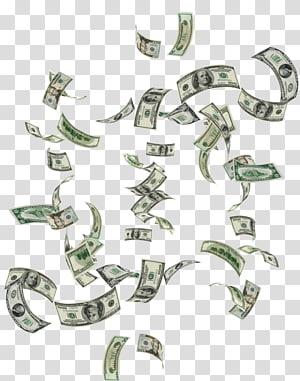Dinheiro, dinheiro em queda, denominação variada do lote de notas de dólar dos EUA png