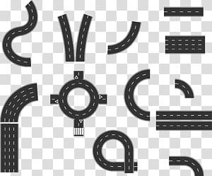 ilustração de estrada cinza, transporte rodoviário curva euclidiana, estrada png