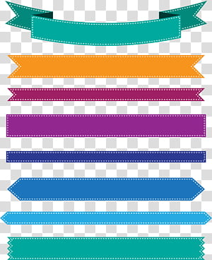 Web banner ícone da fita, banner de fita colorida, ilustração de fita multicolorida png