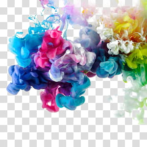 Arte abstrata Estúdio de Gravura, Elementos de botão livres de fumaça de cor, pintura abstrata multicolorida PNG clipart