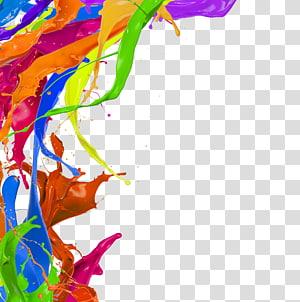 ilustração gráfica de respingos de cores sortidas, pigmento para pintura em aquarela, respingo gratuito de pigmentos de cor PNG clipart