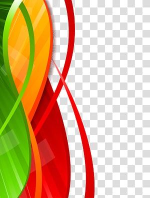 abstrato vermelho, amarelo e verde, Design criativo png