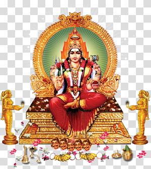 Divindade do templo Meenakshi Amman Mariamman Durga Lakshmi, Deus, ilustração de Vishnu PNG clipart