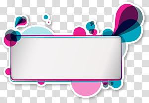 Cartazes elementos decorativos coloridos, mensagem branca e multicolorida pop art PNG clipart
