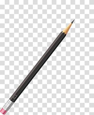 Caneta grátis, lápis, lápis preto e marrom art PNG clipart
