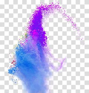 Cor, cor, respingo, pó, fumaça, closeup, roxo, explosão pó PNG clipart