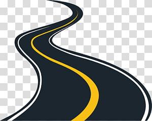 ilustração da estrada, asfalto de estrada, elementos decorativos de estradas urbanas png