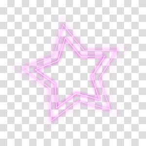 ilustração de estrela rosa, luz, efeito de luz colorido estrela de cinco pontas PNG clipart