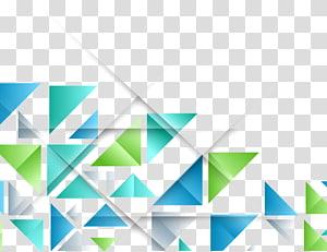 azul e verde, triângulo padrão de forma geométrica, colorido geométrico PNG clipart