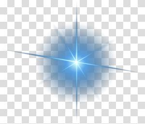 Padrão de triângulo de simetria de luz, material de efeito de luz decorativo, ilustração de estrela azul png