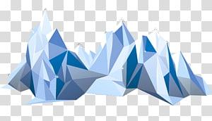 Iceberg euclidiano polígono, iceberg PNG clipart