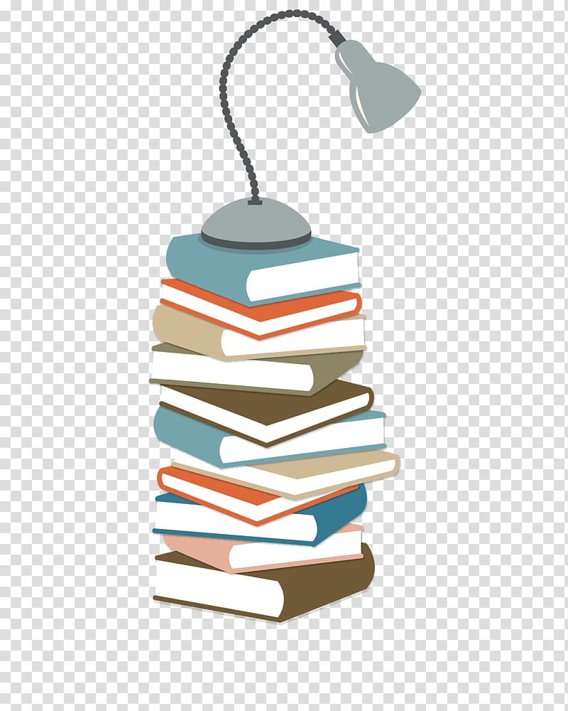 pilha de livros com ilustração de lâmpada de pescoço de ganso, Student Corporate Education Learning University, livros coloridos sobre o abajur PNG clipart